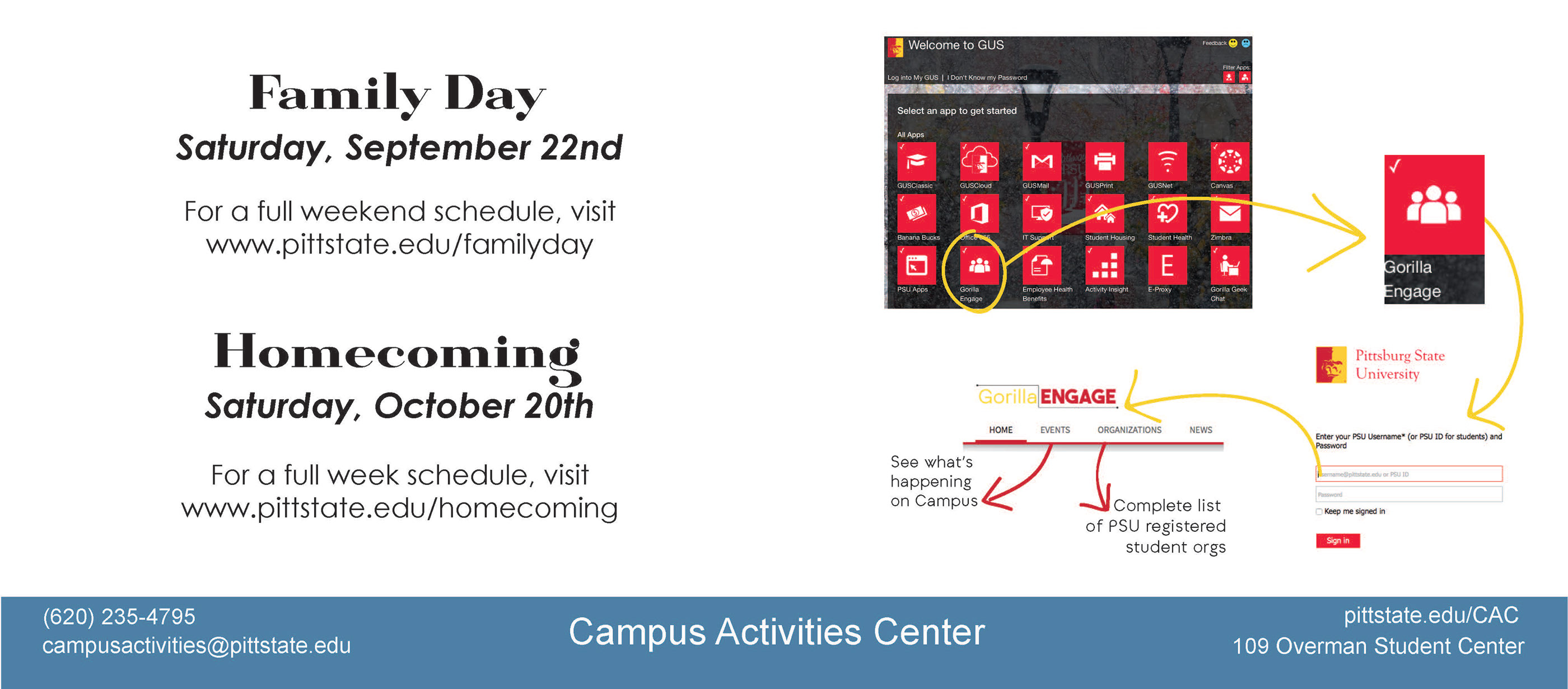 Gorilla Engage: PSU Campus Activities on Behance