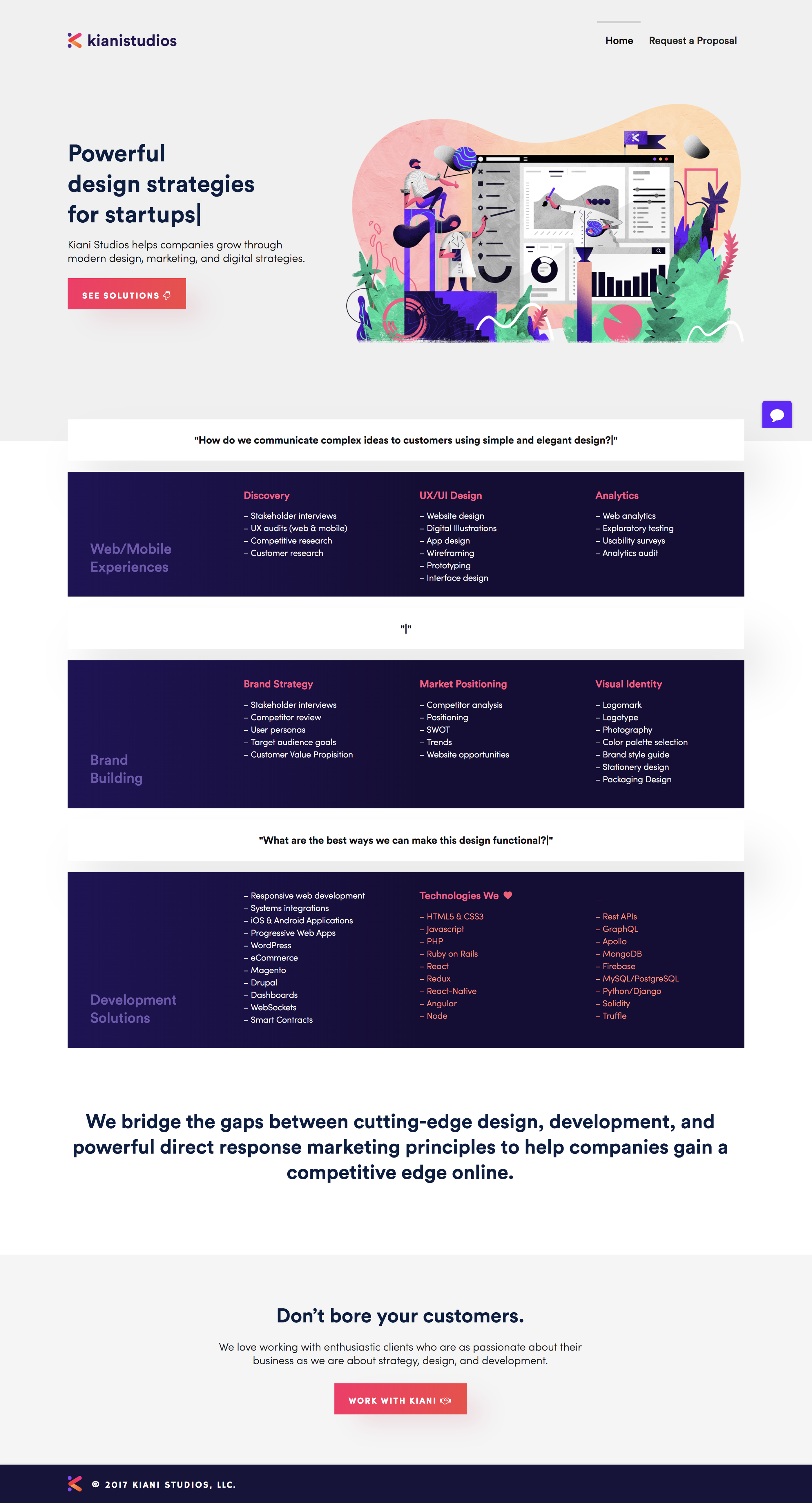 Homepages for Startups - Ux/Ui late 2018 & early 2019 on Behance
