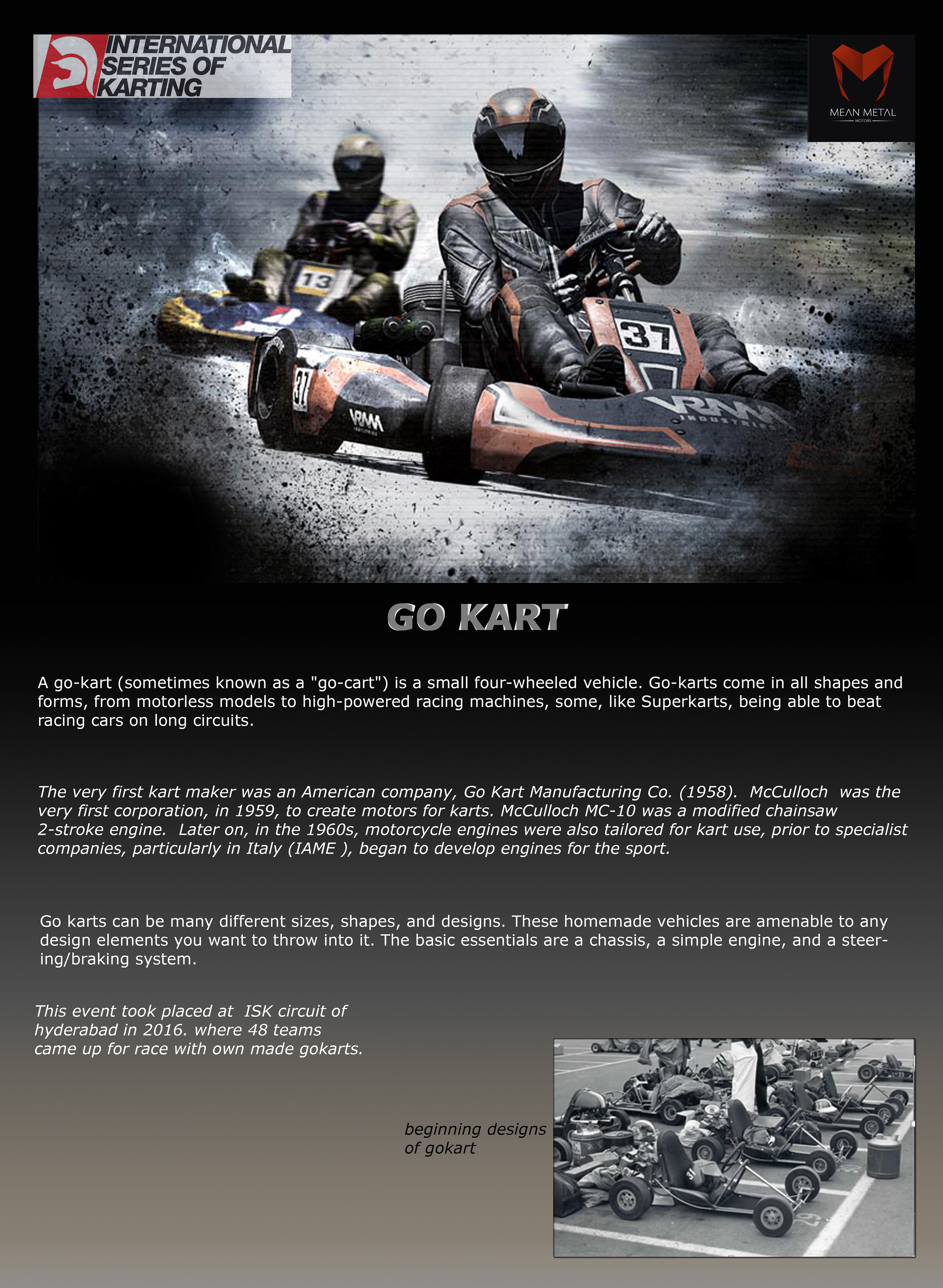 GO KART DESIGN, FABRICATION AND RACE (ISK HYDERABAD) on Behance