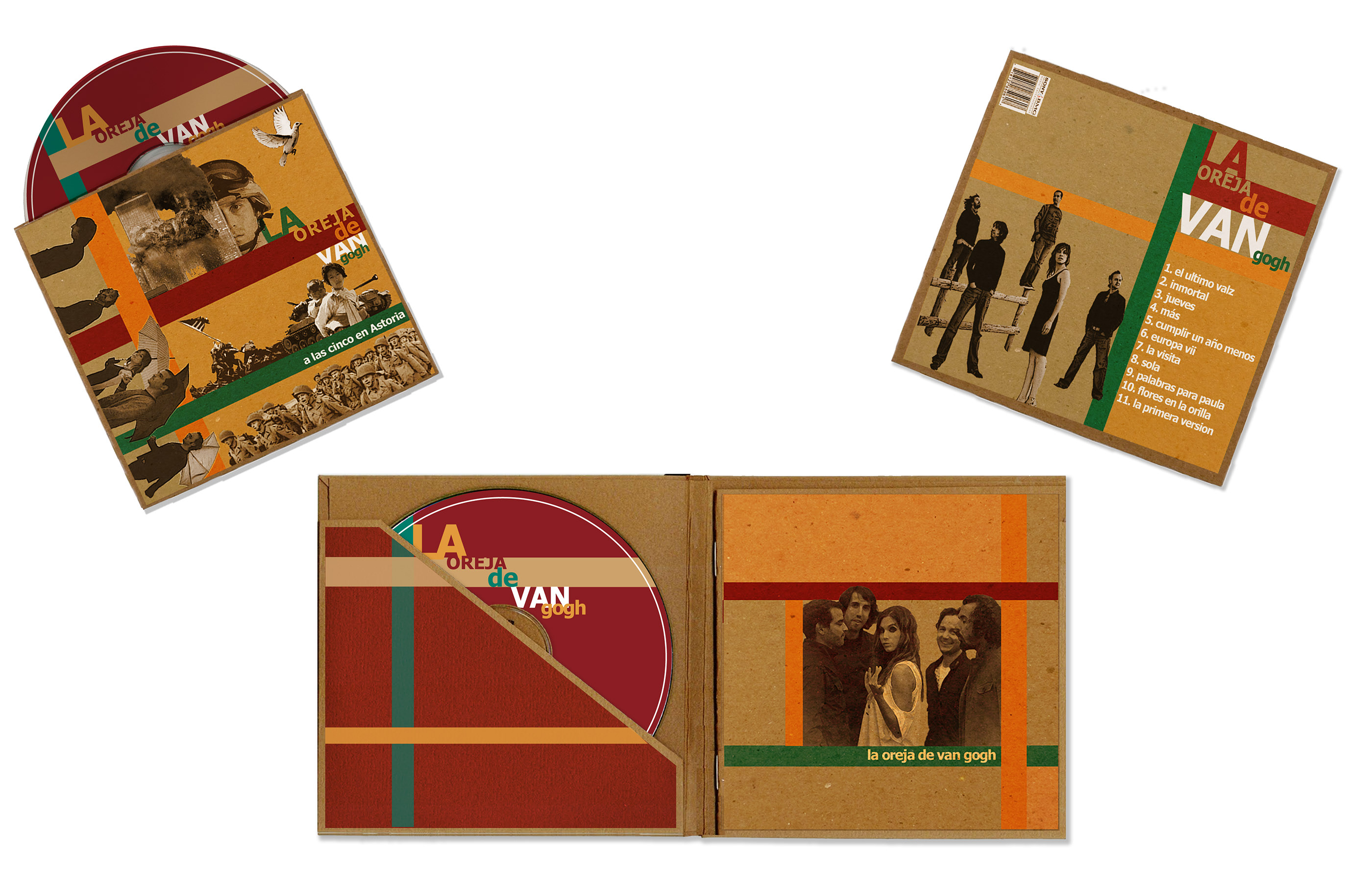 La Oreja de Van Gogh (CD Packaging) on Behance