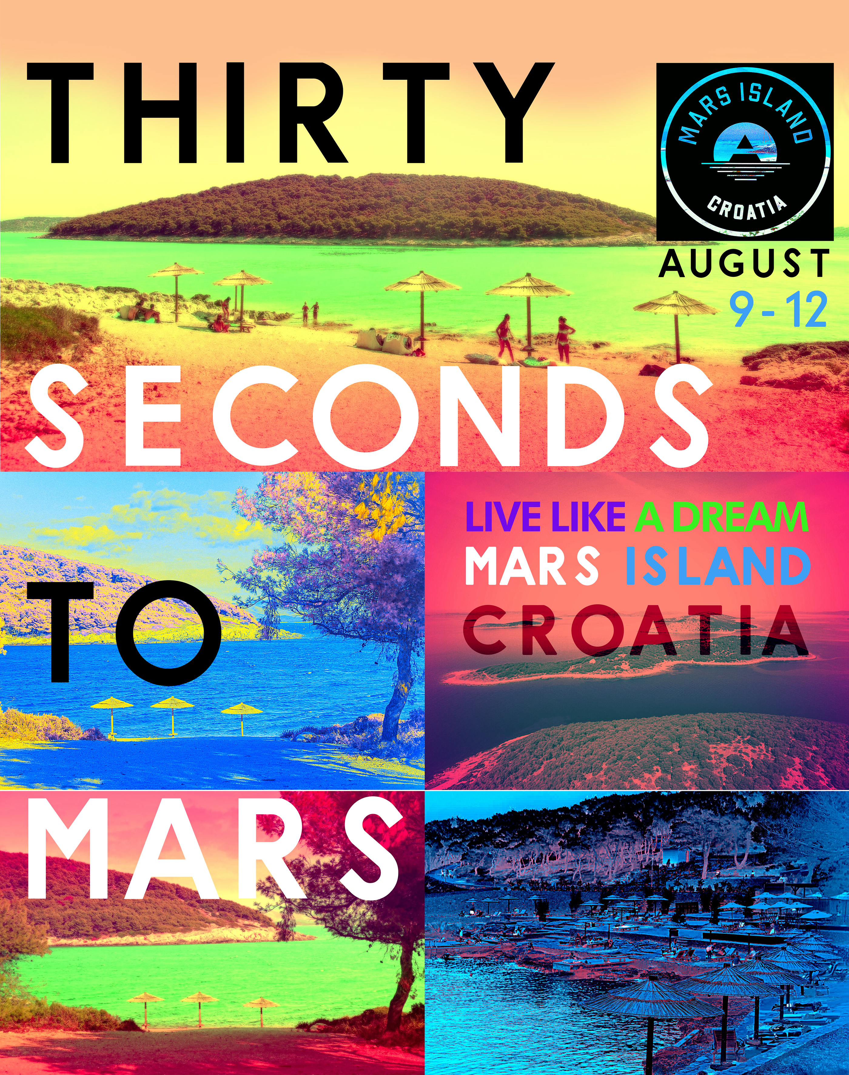 THIRTY SECONDS TO MARS | MARS ISLAND 2019 | T S POSTER on Behance