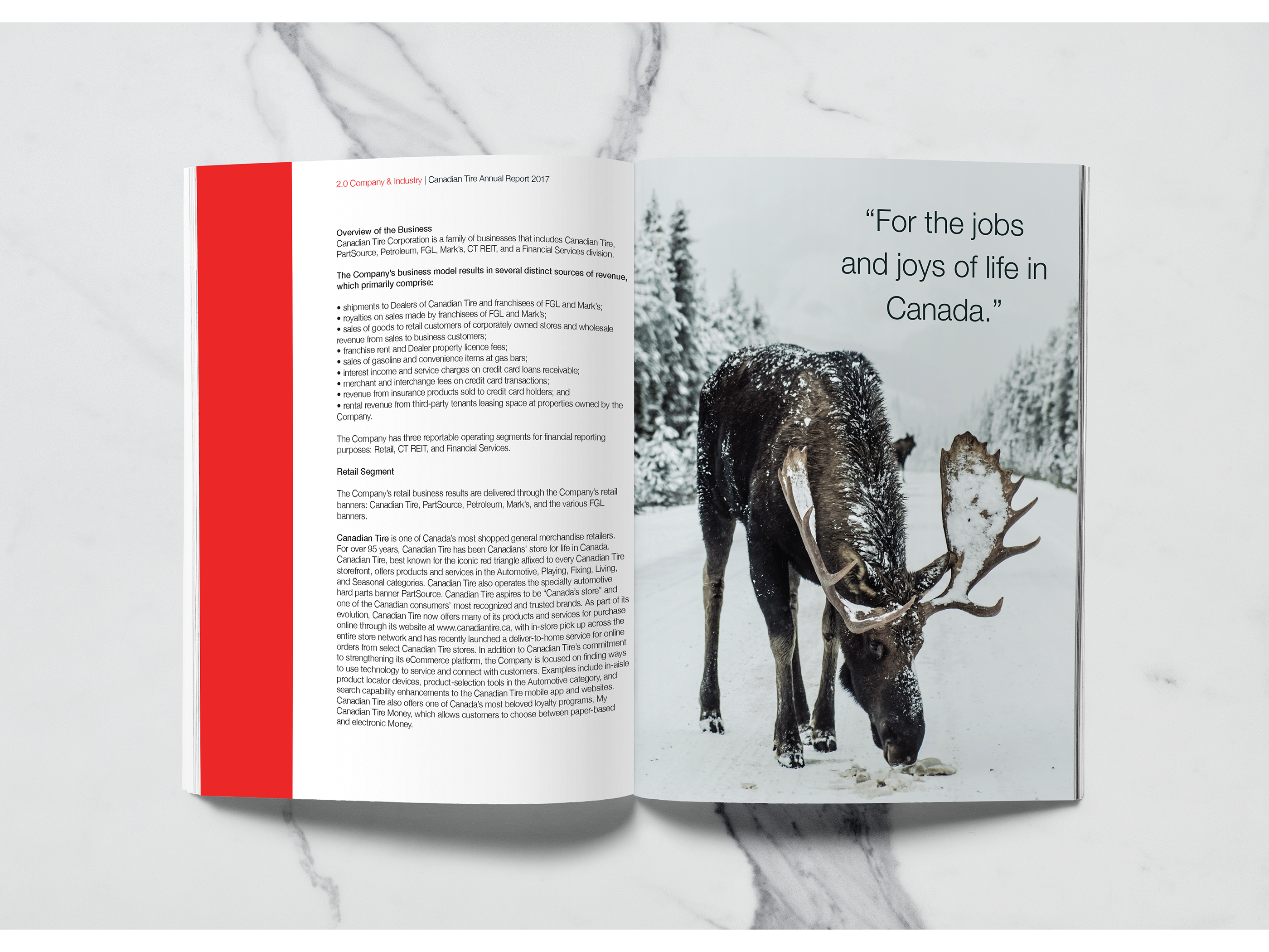 Canadian Tire Annual Report on Behance