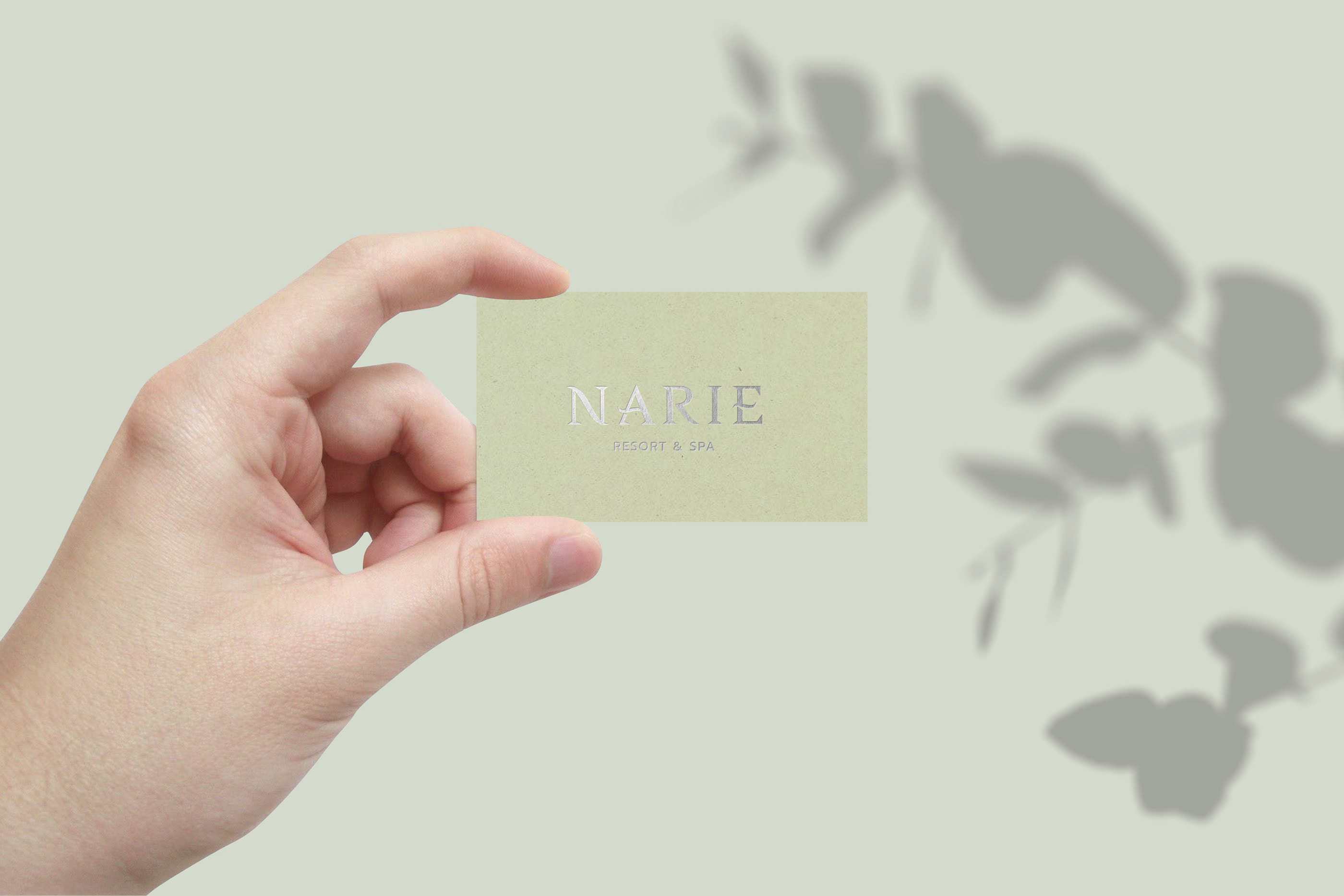 Narie Resort and Spa stationery printed on Crush Kiwi and Lavender