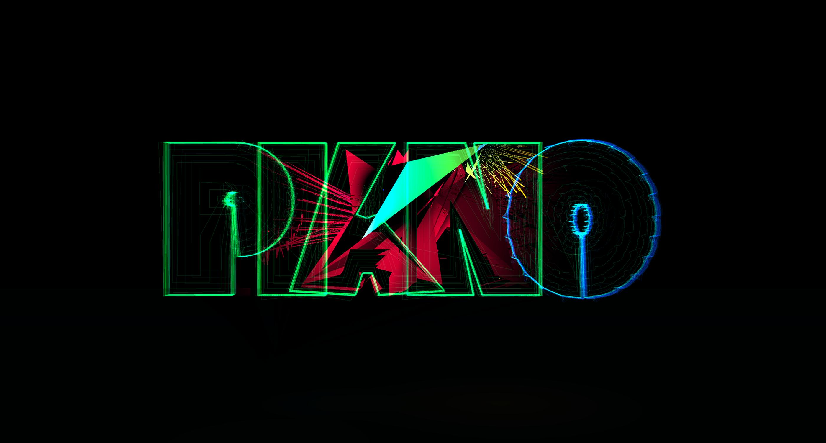 Piano  Interactive, audio-reactive 3D typography on Behance
