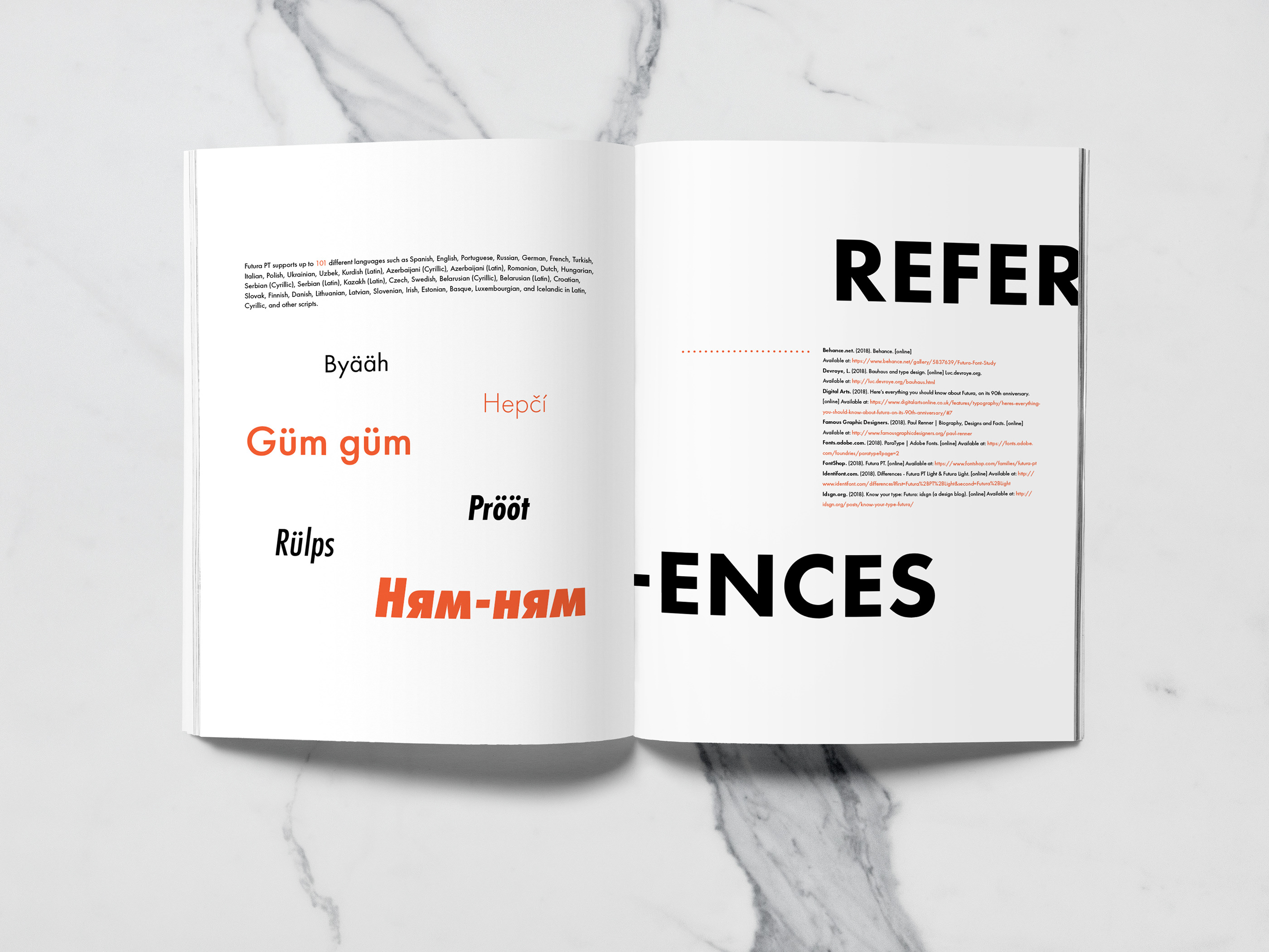 Futura PT- A Type Specimen Book on Behance
