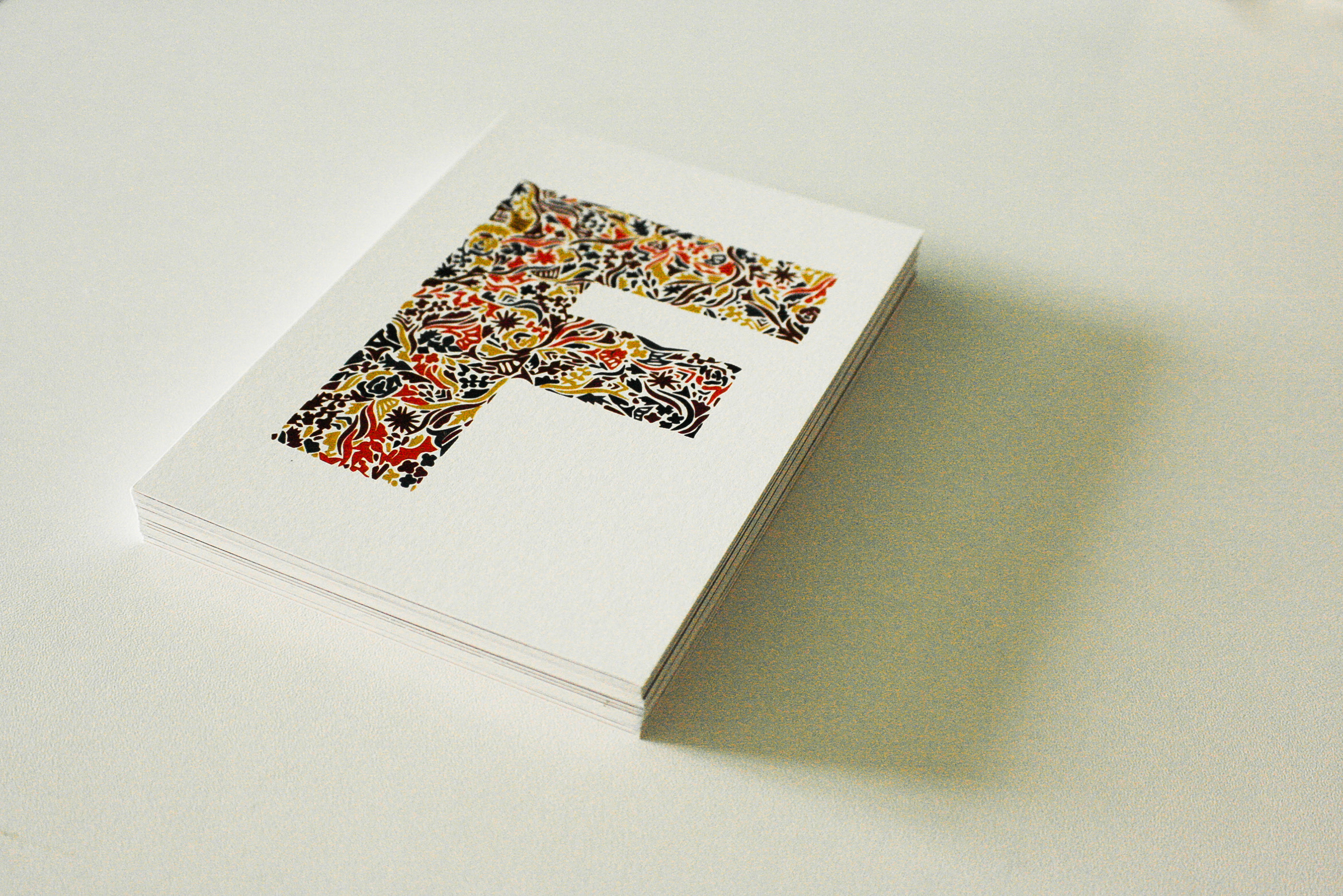 Alphabet Postcard E DIN A6