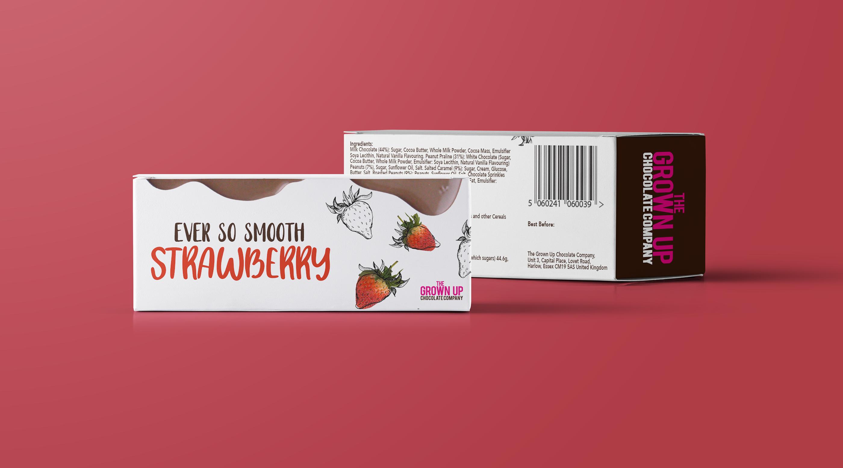 Grown Up Chocolate Company Chocolate Bar Packaging On Behance