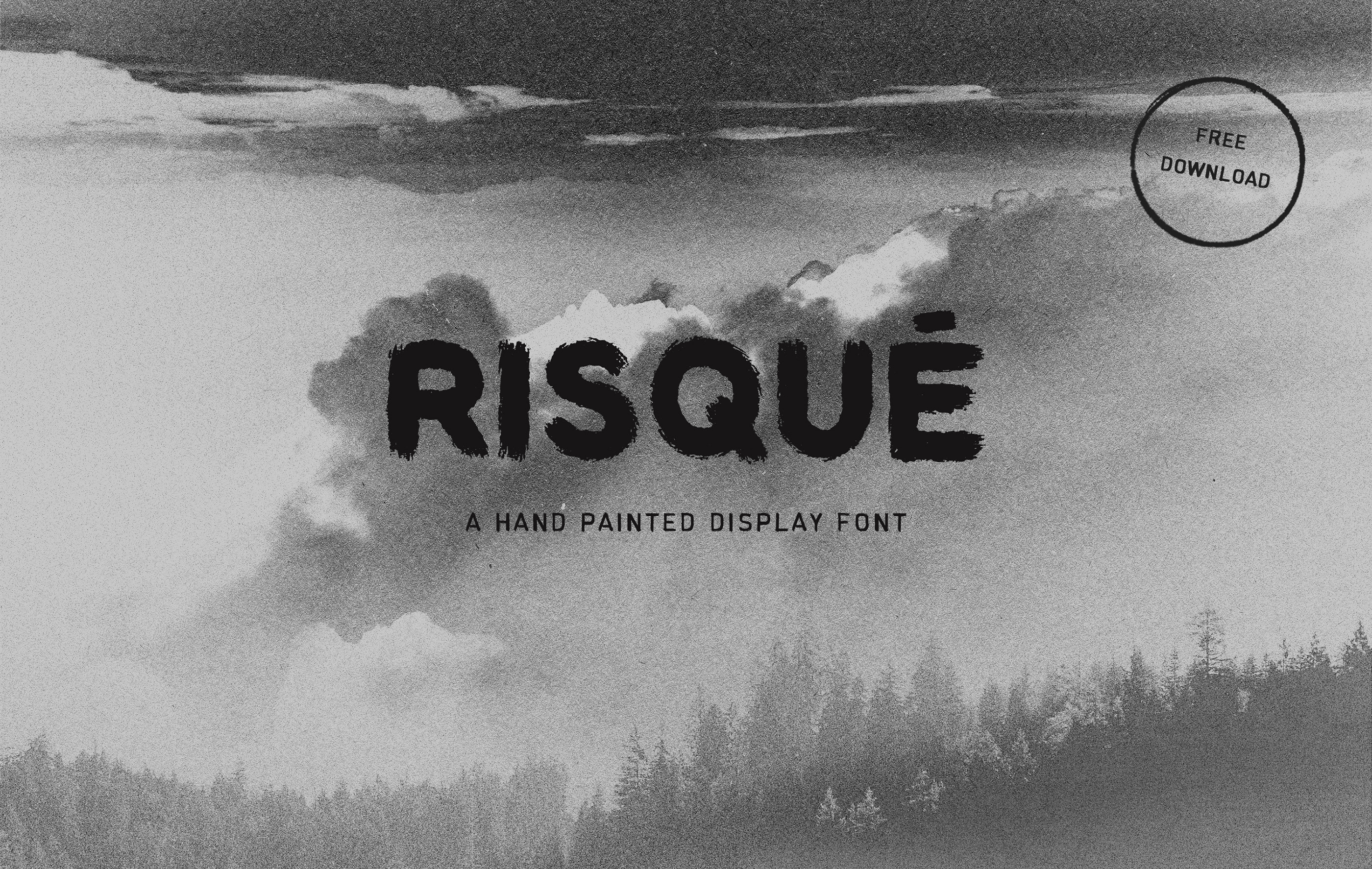 RISQUÉ — FREE Hand Painted Display Font on Behance