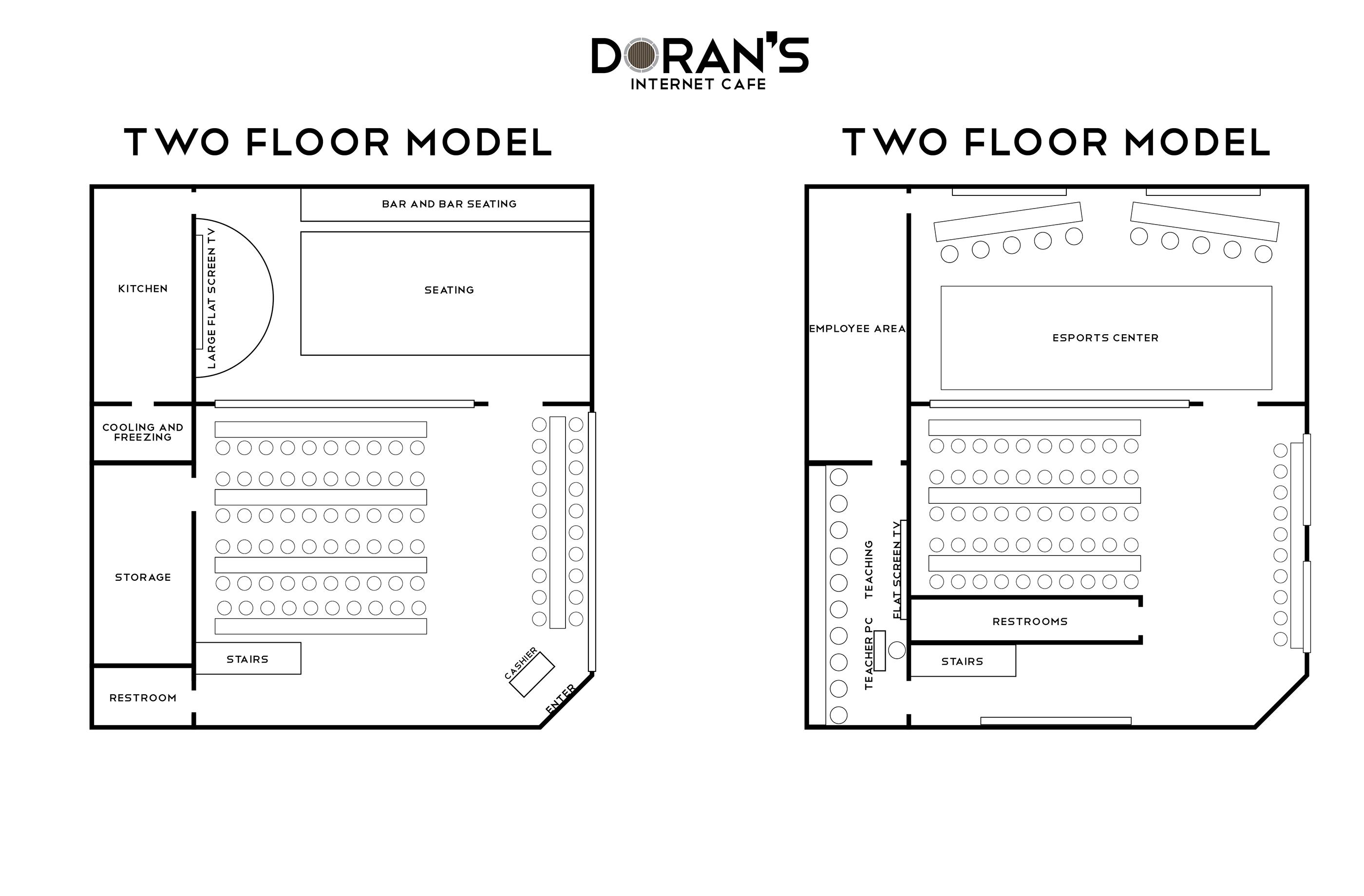 Doran S Internet Cafe Floor Plans On Behance