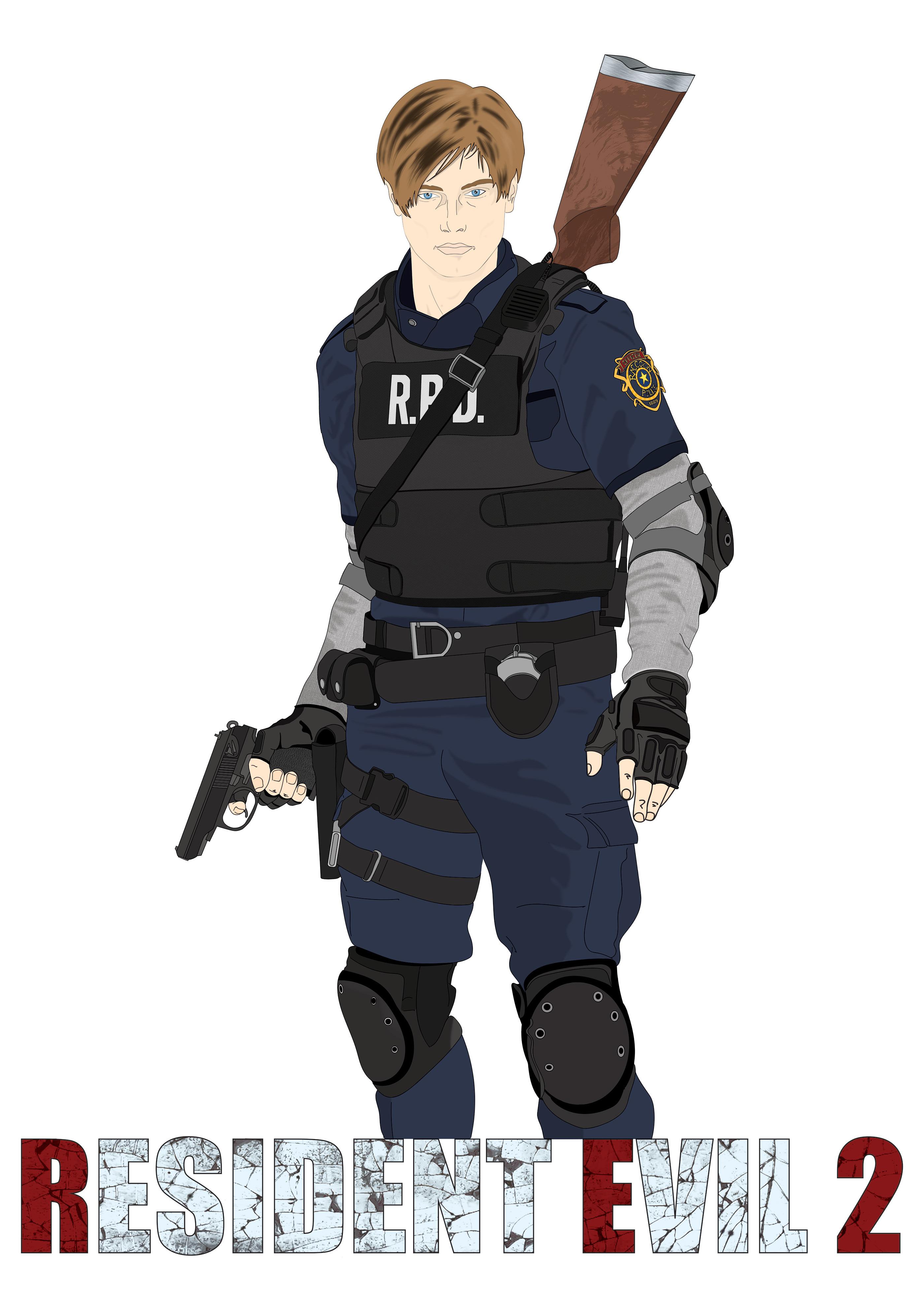 Resident Evil 2 Fan Art On Behance