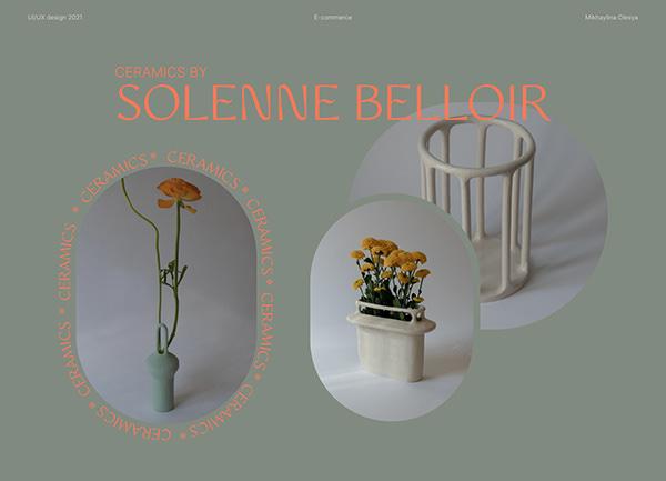 E-commerce ceramics by Solenne Belloir