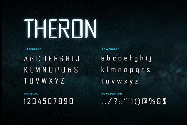 Theron Sci-fi Font