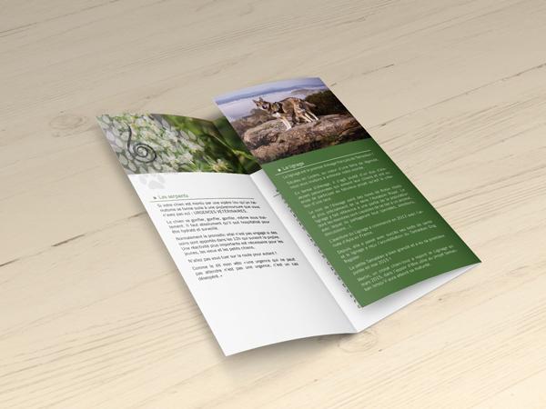 dépliant, 3 volets, brochure, graphiste, lozère, cévennes, julie mercey