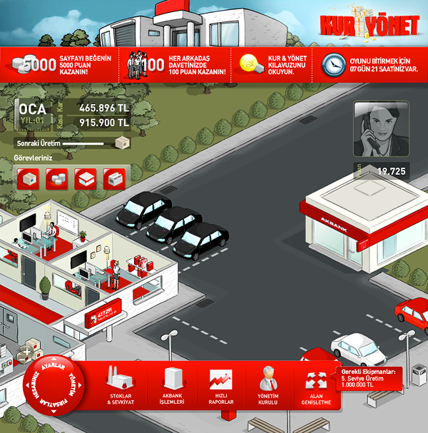 Akbank Bank money strategy business product Isometric real time loan credit department research