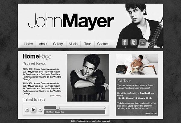 Music Artist Web Interface on Behance