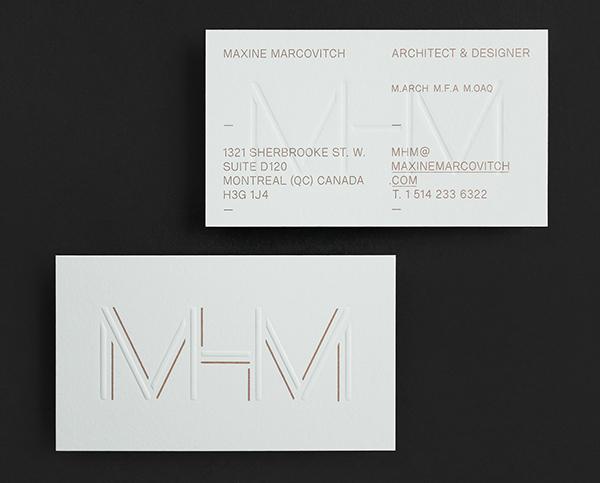 architect brand logo identity gold White business card Web UI Stationery bag Logotype clean minimalist