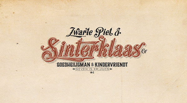 Sinterklaas letterhead Label Zwart Piet vintage old Letterhoofd Saint Nicolas Sint Nicolaas Santa Claus Authentic