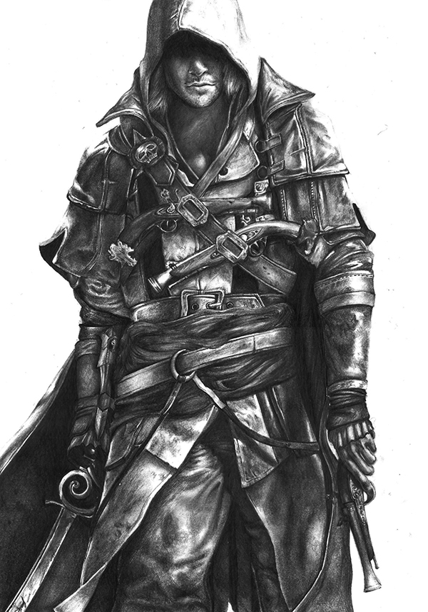Assassins Creed 4 Pencil Art On Behance