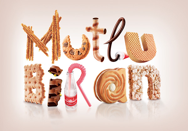chocolate 3D typo sugar