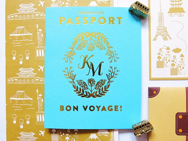 a travel themed debut invite on behance