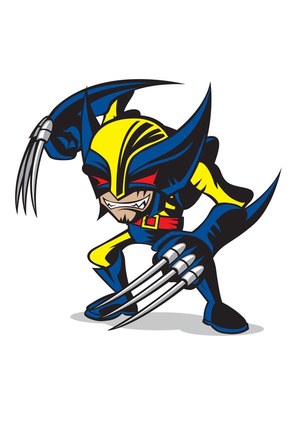 Marvel Character Design Behance : Marvel comics minis on behance