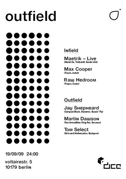 Outfield germany Ben Slater dice berlin electronic techno customisation