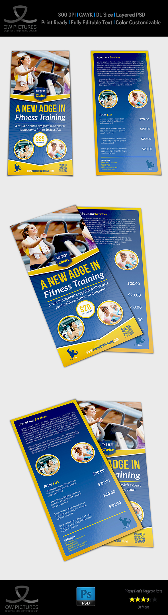 DL Fitness Flyer Template On Behance - Dl size flyer template