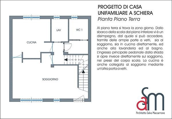 Progetto di casa unifamiliare a schiera on behance for Piani di case unifamiliari