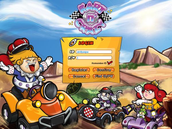 kart n Kart n Crazy   login page on Pantone Canvas Gallery kart n