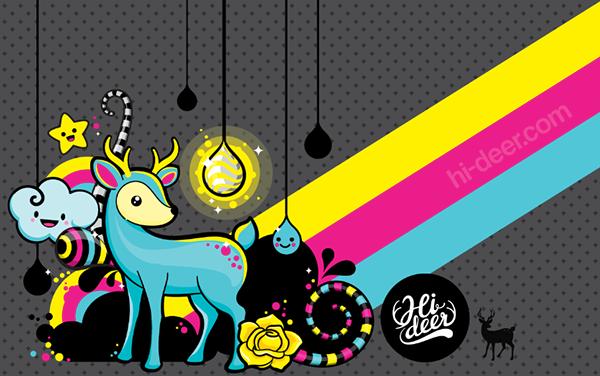 We Love Kawaii And Deers Kerido Wallpaper Poster