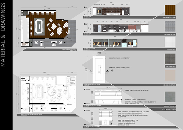 Interior design project restaurant on behance