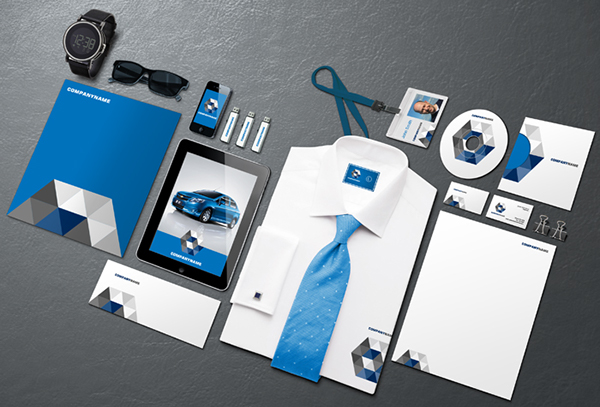 gemgfx corporate identity mockup part 4 (free download) on behance, Powerpoint templates