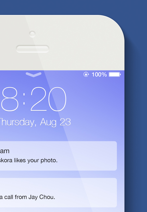 ios splash screen template psd - ios 7 lockscreen and iphone 5s template psd on behance