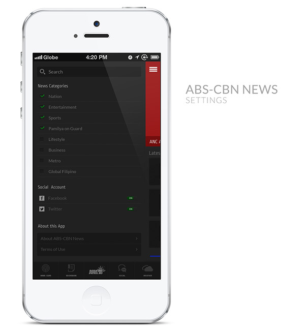 ABS-CBN News App Redesigned Concept on Behance