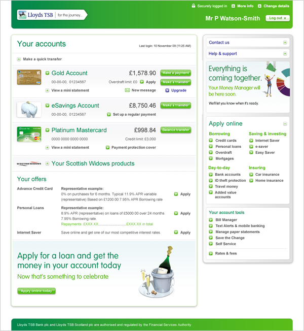 lloyds tsb banking online: