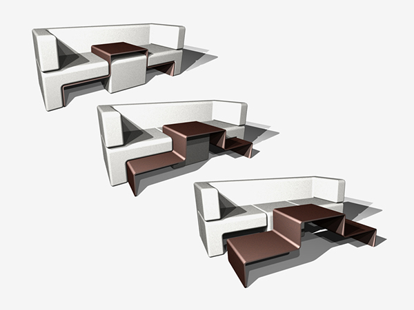 Nice The Magnetically Retained Sofa Cushions Always Find And Keep Their Optimal  Position Either Atop The Table For An Ottoman Or Below For A Coffee Table.  Slot ... Photo