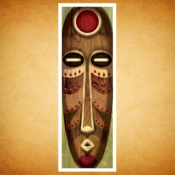 M scaras africanas on behance - Laminas decorativas pared ...
