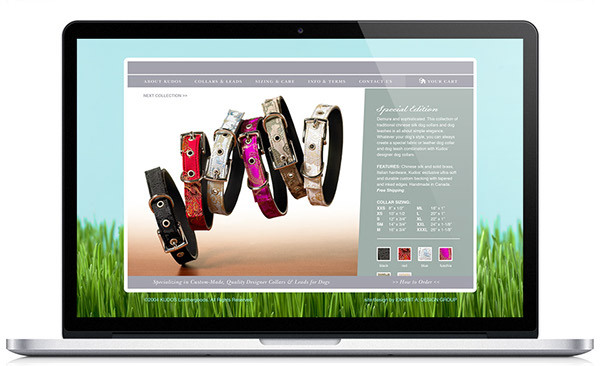 brand strategy Brand Design packaging design tagging storytelling   point-of-purchase Ecommerce Website Design Kudos Collars dog collars vancouver seattle Portland