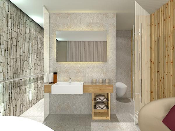 CG Render rendering interiors FormZ Artlantis 3D visualization furniture wood hotel suite
