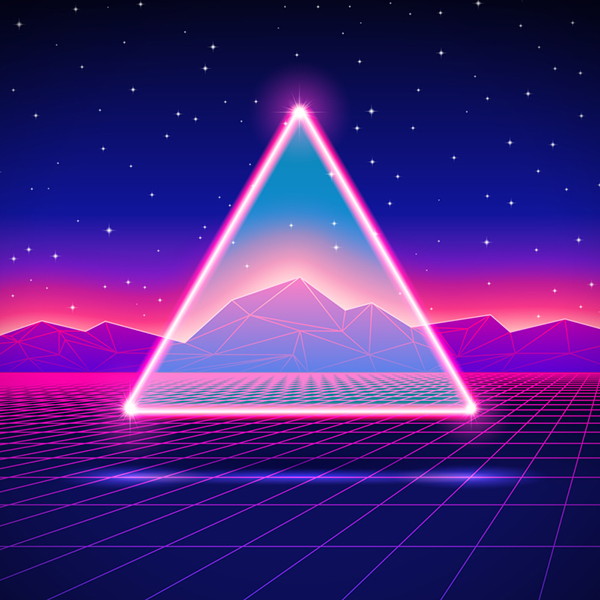 New retro wave vectors 2015 201 on behance - Space 80s wallpaper ...