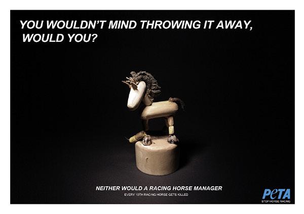 ADVERTISING for Peta Against Horse Racing (TV & Print) on