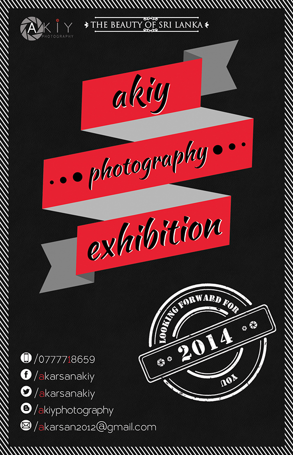 Akiy Photography Exhibition Invitation Card On Student Show