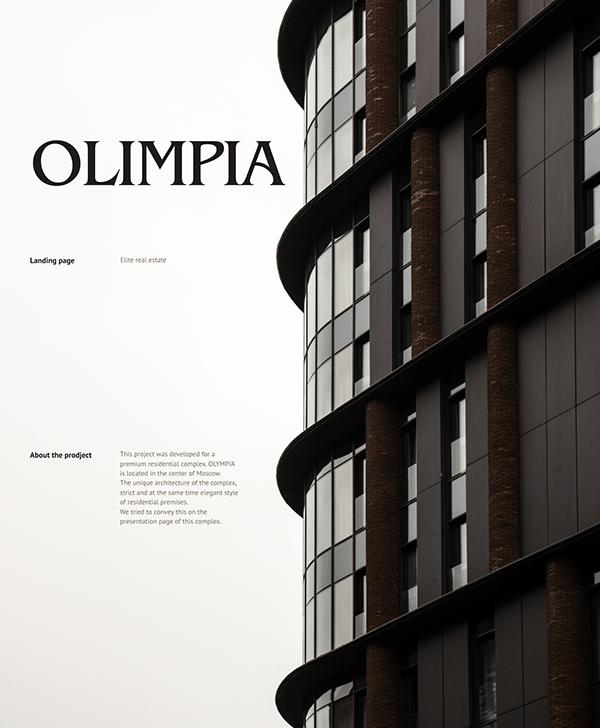 OLIMPIA — Luxury real estate page