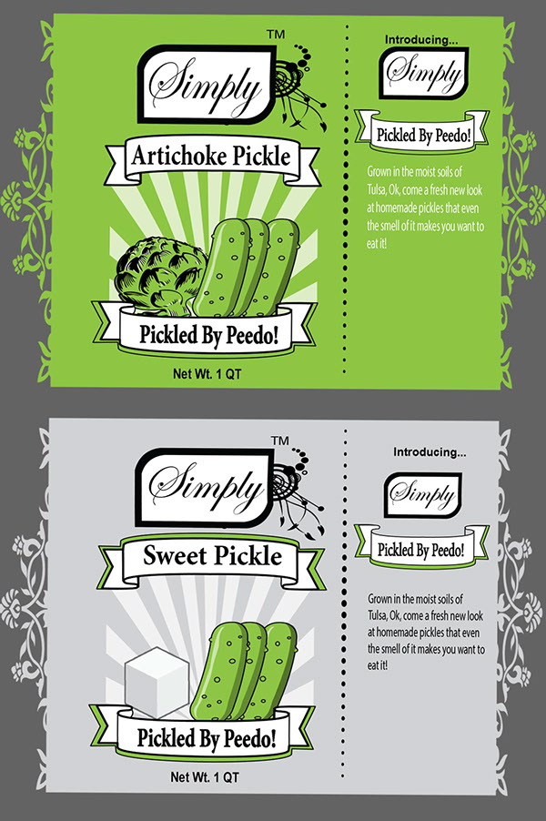 Logo And Label Print Peedo By Pickles On Behance