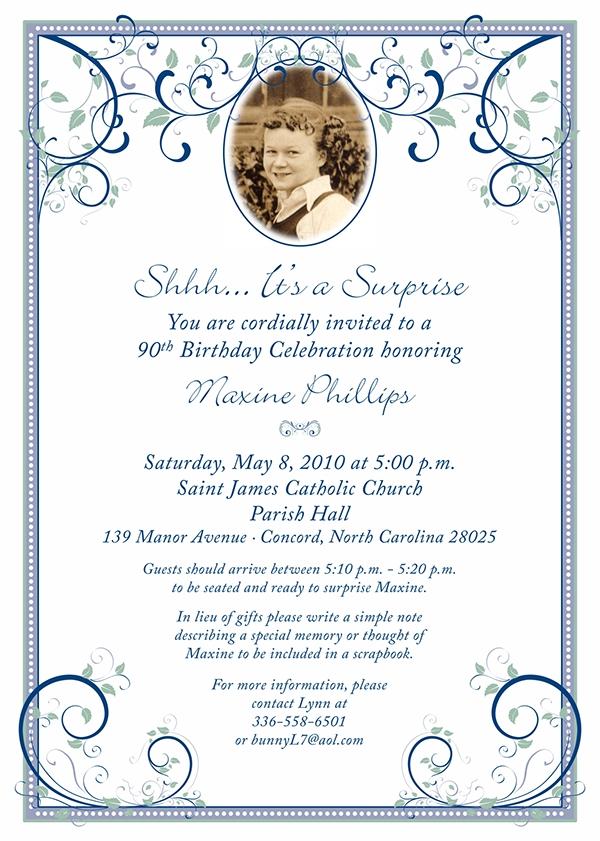 90th Birthday Party Invitation On Behance