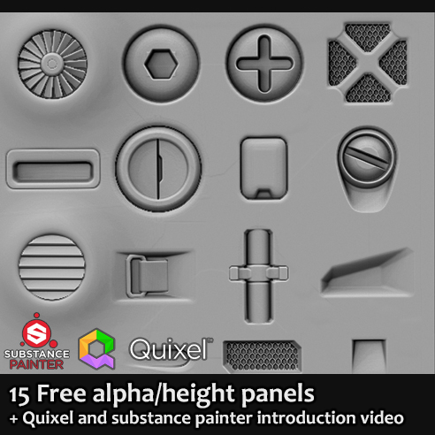 15 Free scifi alpha panel brushes on Behance