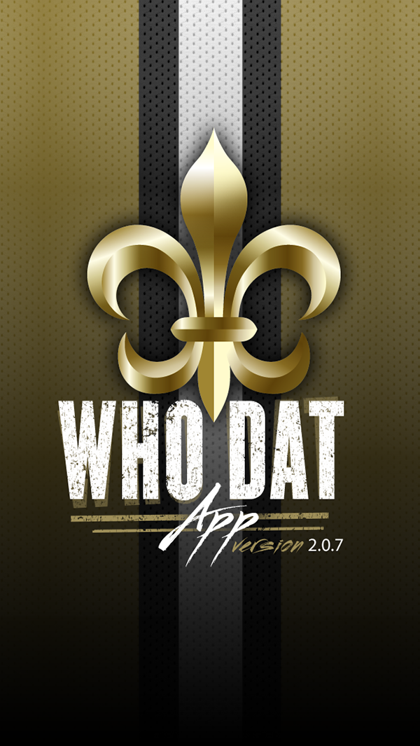 f5cac2155b5 WhoDatApp - New Orleans Saints on Behance