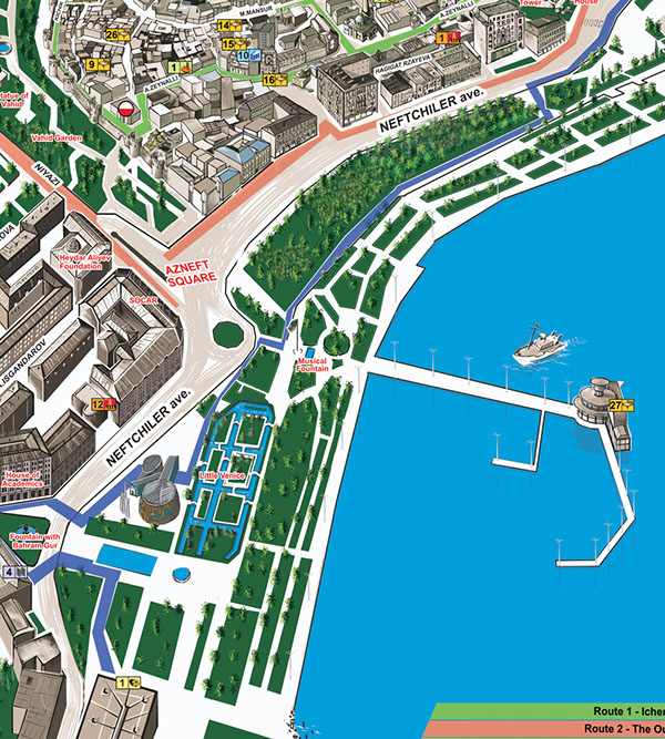 Baku City Map on Behance
