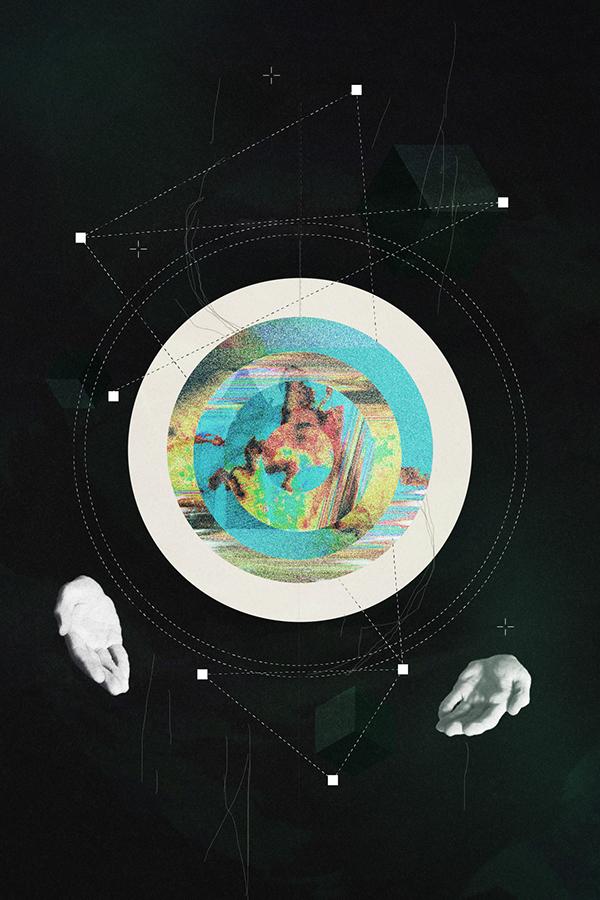 Space  divine poster art statue circle infinity infinite Nature stars beauty inspiration