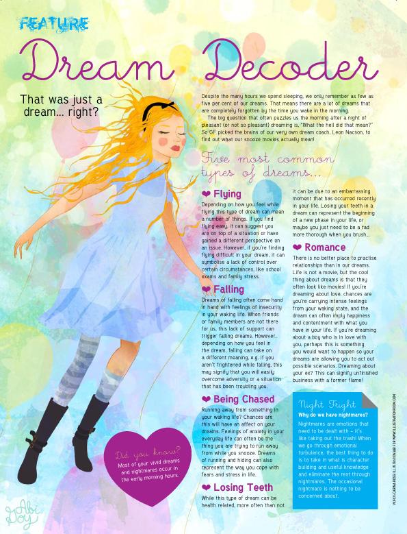 dream decoder dreams alice ILLUSTRATION  girlfriend Australia